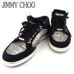ジミーチュウ スニーカー シューズ 靴 レディース ♯37 ローカット グリッター JIMMY CHOO 中古