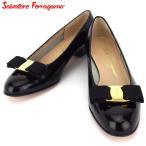 サルヴァトーレ フェラガモ パンプス シューズ 靴 レディース #7 ヴァラリボン Salvatore Ferragamo 中古