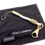 ショッピング携帯ストラップ ドルチェ&ガッバーナ Dolce&Gabbana 携帯ストラップ ラインストーン付き ホワイト ゴールド レディース メンズ ドルガバ 中古
