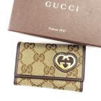 グッチ Gucci キーケース 6連キーケース レディース GGキャンバス [中古] 人気 セール T3191