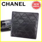 シャネル CHANEL 二つ折り札入れ 二つ折り 財布 メンズ可 ワイルドステッチ [中古] 人気 美品 ヴィンテージ T3307