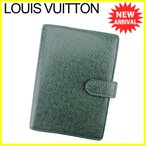 ルイ ヴィトン Louis Vuitton 手帳カバー システム手帳 メンズ アジェンダPM R20433 タイガ 中古 美品 訳あり T4149