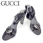 グッチ Gucci サンダル 靴 シューズ レディース #39 アンクルストラップ 中古 未使用品T6615