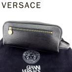 ヴェルサーチ Versace バッグ クラッチバッグ サンバースト ブラック ゴールド レディース メンズ 中古 Bag