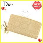 ディオール Dior 長財布 ラウンドファスナー レディース レディディオール 中古 美品 セール A1336