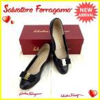 サルヴァトーレフェラガモ Salvatore Ferragamo パンプス シューズ 靴 レディース ♯5ハーフC ヴァラリボン 中古 良品 セール C2462