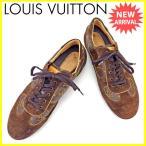 ルイ ヴィトン Louis Vuitton スニーカー シューズ 靴 メンズ ♯10 ローカット モノグラム 中古 良品 セール J16376