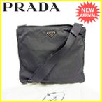 プラダ PRADA ショルダーバッグ 斜めがけショルダー メンズ可 トライアングルロゴ [中古] 訳あり セール J17140