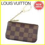 ルイ ヴィトン Louis Vuitton コインケース キーケース メンズ可 ポシェットクレ N62658 ダミエ [中古] 人気 セール J18457