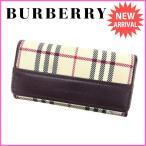 バーバリー BURBERRY キーケース メンズ可 ノバチェック 中古 良品 セール J9016