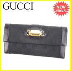 グッチ GUCCI 長財布 Wホック メンズ可 146199 GGキャンバス 中古 人気 セール K411