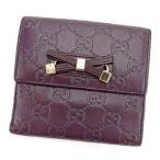 グッチ GUCCI Wホック財布 二つ折り財布 レディース プリンシー 167465 グッチシマ 中古 人気 セール L1230