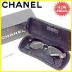 シャネル CHANEL サングラス メガネ メンズ可 ツーポイント 縁なし 4003 c.10371 ココマーク [中古] 良品 セール L1447