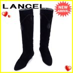 ランセル LANCEL ブーツ シューズ 靴 レディース ♯22ハーフ ロング テープライン 中古 人気 セール L1573