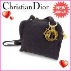 クリスチャンディオール Christian Dior ショルダーバッグ レディース ロゴチャーム付き レディディオール 中古 激安 セール Q077