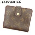 ルイヴィトン Louis Vuitton 財布 二つ折り財布 モノグラム コンパクトジップ レディース メンズ 訳あり 中古