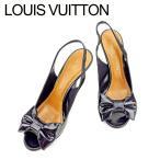 ルイ ヴィトン LOUIS VUITTON サンダル シューズ 靴 レディース #35ハーフ リボンモチーフ 中古 人気 良品 T7573