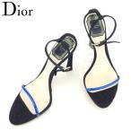 ディオール Dior サンダル シューズ 靴 レディース ♯35ハーフ ピンヒール アンクルストラップ 中古 人気 良品 T8114