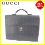 グッチ GUCCI ビジネスバッグ ブリーフケース メンズ 34044 グッチシマ [中古] 人気 セール Y4276