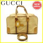 グッチ Gucci ボストンバッグ  シェリー [中古] ヴィンテージ セール Y5070