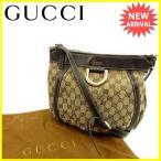 グッチ Gucci バッグ ショルダーバッグ GGキャンバス ブラウン ベージュ レディース メンズ 中古 Bag