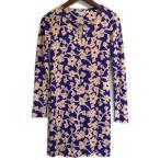 ダイアンフォンファステンバーグ DIANE von FURSTEMBERG ワンピース 長袖 花柄 ブルー系 シルク #O レディース 女性用 チュニック