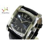 ブルガリ BVLGARI 腕時計 アショーマ AA39S メンズ 社外ベルト 黒  値下げ 20190421画像