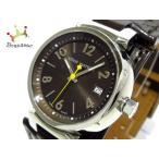 ヴィトン LOUIS VUITTON 腕時計 美品 タンブール Q1211 レディース 革ベルト ダークグレー 新着 20190615