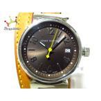 ヴィトン LOUIS VUITTON 腕時計 タンブール Q1211 レディース 革ベルト ダークブラウン 新着 20200111