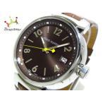 ヴィトン LOUIS VUITTON 腕時計 美品 タンブール MM Q1311 レディース ダークブラウン  値下げ 20191019