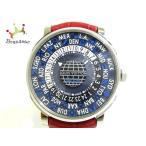 ヴィトン 腕時計 エスカル オトマティック タイムゾーン Q5D22 メンズ アリゲーターレザーベルト 新着 20191205