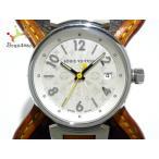 ヴィトン LOUIS VUITTON 腕時計 タンブール Q121K レディース モノグラム キャンバス ベルト 白 新着 20191205