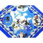 エルメス HERMES スカーフ 美品 カレ ブルー×白×マルチ Feria de Sevilla/競馬 新着 20200123