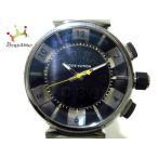 ヴィトン LOUIS VUITTON 腕時計 タンブールインブラック Q118F メンズ SS/ラバーベルト 黒 新着 20200110