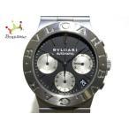ブルガリ BVLGARI 腕時計 ディアゴノ スポーツクロノ CH35S メンズ SS/クロノグラフ 黒 新着 20200220