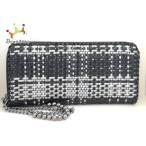 アンテプリマ ANTEPRIMA 長財布 - 黒×白 ラウンドファスナー ワイヤー   スペシャル特価 20200830