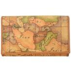 プリマクラッセ 財布 三つ折り財布 小銭入れ付き W021 9000 Geo Classic ジオクラシック 世界地図柄 マップ柄 ベージュ系 人気 SALE セール