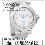 送料無料 カルティエ パシャC スモールデイト ボーイズ 腕時計 W31015M7 自動巻き シルバー ホワイト 文字盤 SS 中古