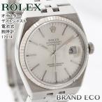 ロレックス オイスター メンズ デイトジャスト クォーツ 電池式 腕時計 アナログ ステンレス シルバー アイボリー文字盤 17014 中古