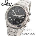 オメガ スピードマスターデイト メンズ腕時計 中古 3513.52 オートマティック SS/ブラック文字盤 クロノグラフ タキメータース モールセコンド