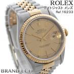 ロレックス デイトジャスト Ref.16233 メンズ 腕時計 SS×K18YG コンビ オートマティック ゴールド文字盤 W番 中古