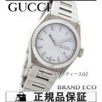 美品 グッチ パンテオン 115.5 レディース腕時計 YA115501 ホワイト文字盤/SS クォーツ デイト機能 中古