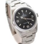 ロレックス エクスプローラー1 腕時計 メンズ 自動巻き ブラック文字盤 シルバー ref.14270 A番 (99年頃製) 中古 送料無料