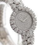 送料無料 ピアジェ レディース クォーツ ウォッチ K18WG ダイヤモンド ラウンド ハイジュエリー ラグジュアリー 無垢 フルダイヤ 腕時計 中古