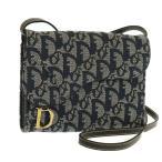 クリスチャンディオール Christian Dior ウォレットショルダー 財布 ショルダーバッグ トロッター ブルー系 中古A 243732