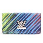 ルイヴィトン Louis Vuitton エピ ポルトフォイユツイスト レディース 長財布 レインボー M62263 中古
