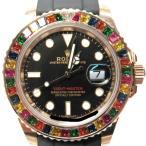 ロレックス ヨットマスター 腕時計 メンズ 時計 キャンディ ブラックxローズゴールド K18RG(750)ローズゴールドxラバー 新品