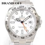 残価据置型クレジット月々15,000円コース対象 ロレックス エクスプローラー2 腕時計 ウォッチ ホワイト ステンレススチール(SS) 216570 ランクA