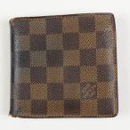 ルイヴィトン 財布 二つ折り LOUIS VUITTON 破格本物 ダミエ ポルトフォイユ・マルコ  中古 売れ筋 ポイント2倍 送料無料