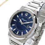 フェラガモ Ferragamo メンズ 腕時計 F-80 44mm ネイビー×シルバー FIF030015 [在庫品]